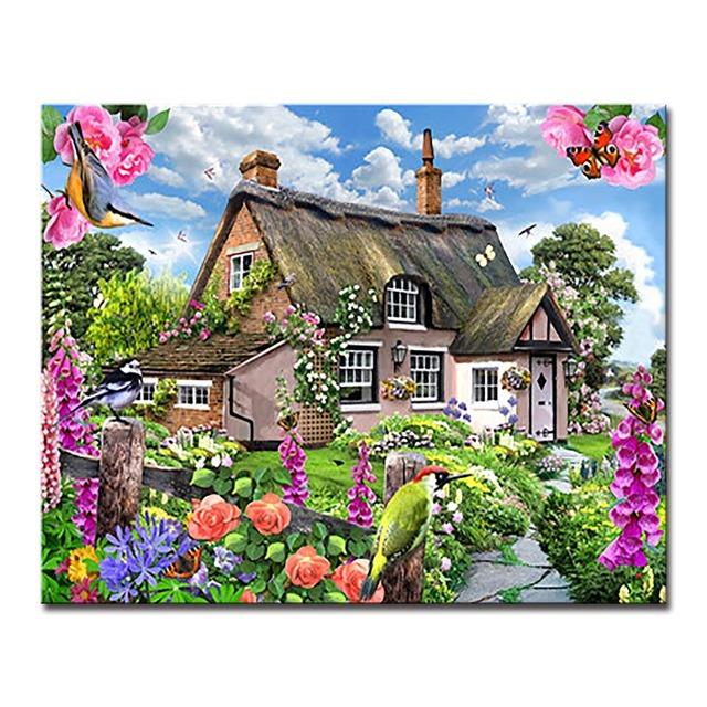 Scenery DIY Painting By Numbers Coloring Gardens In