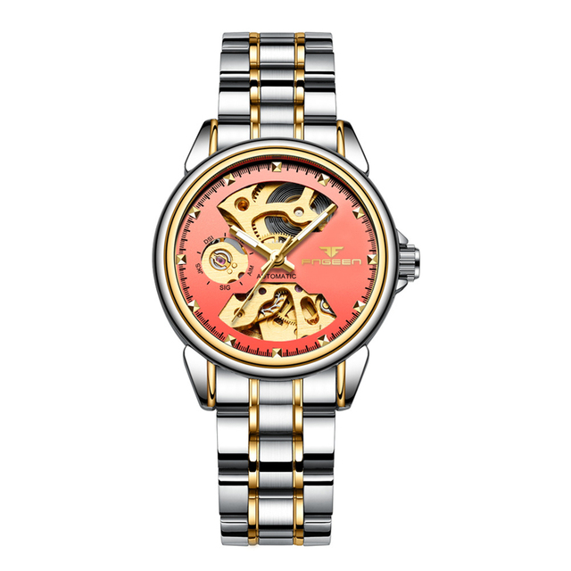 FNGEEN Women's Mechanical Skeleton Luxury Waterproof Female Automatic Watches 2