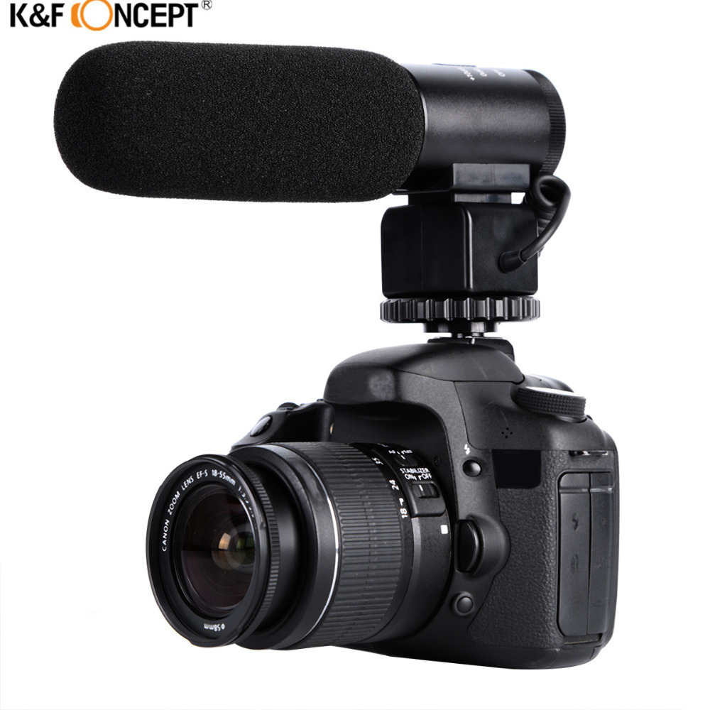 K F CONCEPT Professional DSLR Camera Microphone Interviewing Handheld Wired Mic For Nikon Canon Record Video