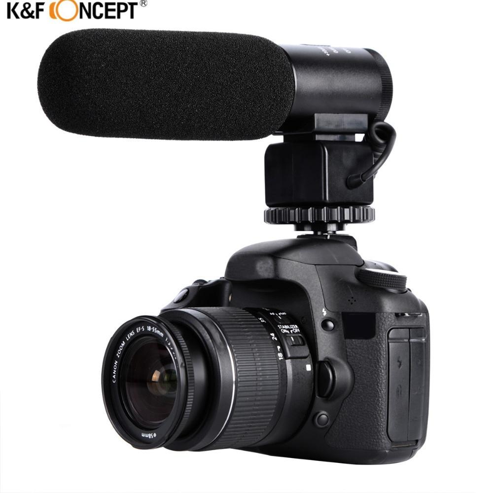 K & F CONCEPT Camera profesională DSLR profesională cu microfon - Audio și video portabile