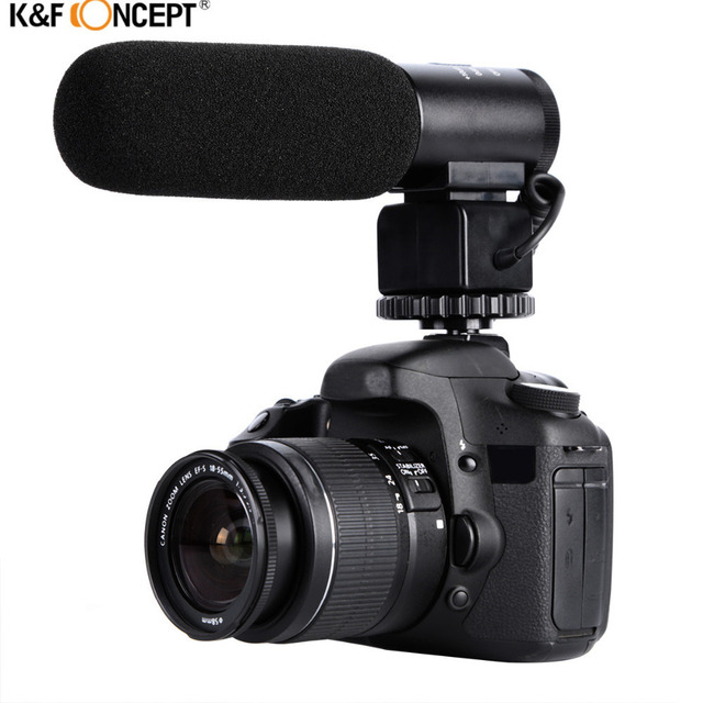 K&F CONCEPT Professional DSLR Camera Microphone Interviewing Handheld Wired Mic For Nikon Canon Record Video Studio Camcorder