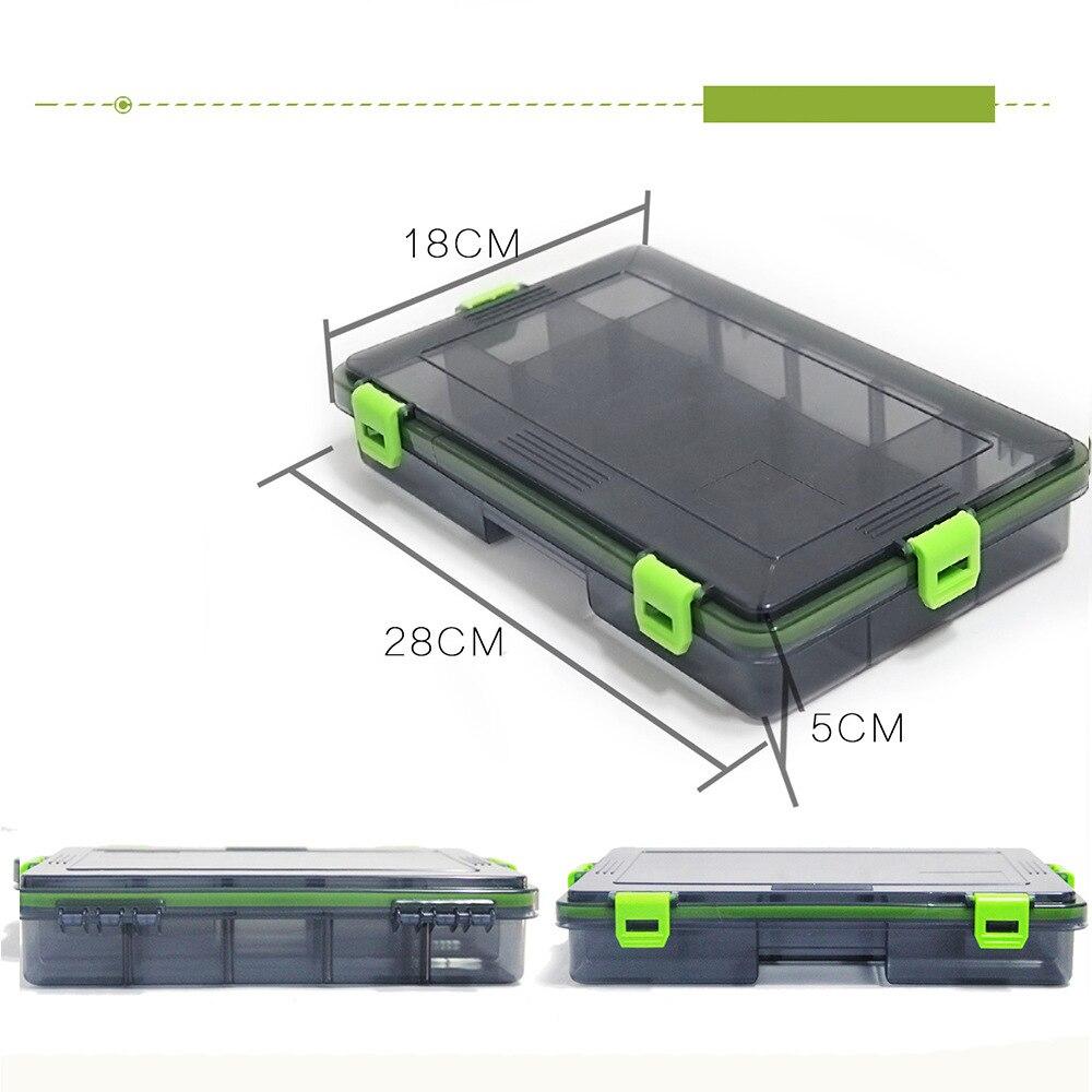 Lure Compartments Fishing Tackle Tools Box Carp Fishhooks <font><b>Float</b></font> Sinker Line Fishing Accessories