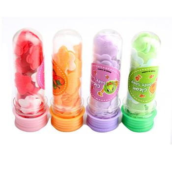 1pcs Portable Tube Soap Petals For Travel Scented Soap Bath Flakes ChildHand Washing Soaps (Random Color )
