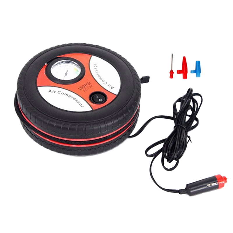 2019 New Style Mini 12V Electric Portable Practical Tool Tyre Pressure Monitor Tire AirCompresser Pump Black Tools Maintenance(China)