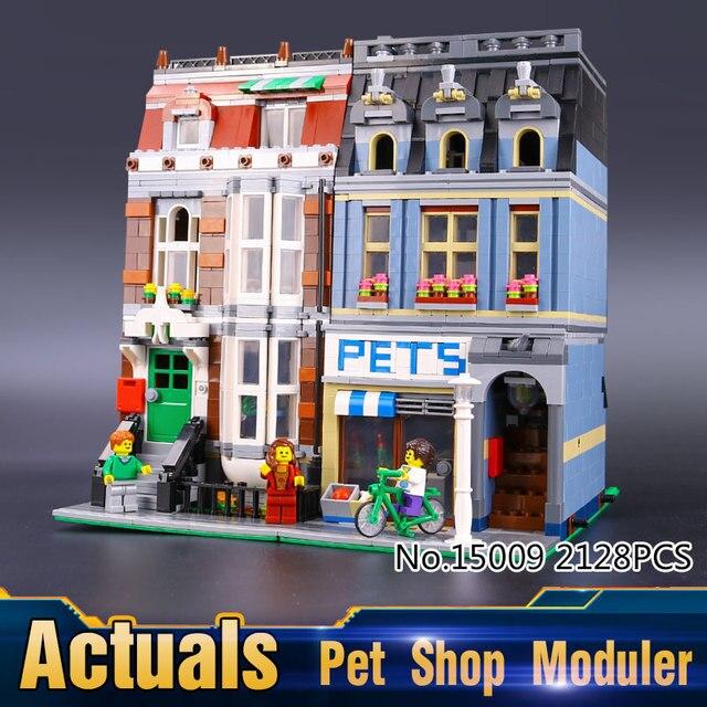 2016 Nueva LEPIN 15009 2082 Unids City Creator Pet Shop Supermarket Kits de Edificio Modelo Bloques Ladrillos Compatibles Juguete 10218