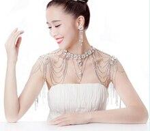 Wholesale Luxious Bridal Necklace  Shoulder Strap Wedding Dress Shoulder Chain,Xmas Valentine's Gift Necklace  недорого