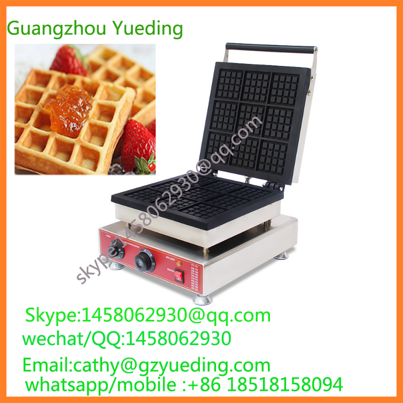 Commercial Non-stick 110V 220V Electric 9pcs Belgium Liege Waffle Maker Iron Machine waffle machine 110v 220v electric belgian liege waffle baker maker machine iron page 3