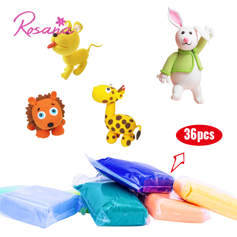 Learning & Education Modest Rosana Hot Sale Kids 36pcs Diy Plasticine With 3pcs Tool Kit Anti-stress Soft Slime Fluffy Modeling Clay Funny Toys For Children