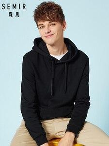 SEMIR Thermal Hooded Sweatshirt for Men Pullover Hoodie Sport Sweatshirt with Kangaroo Pocket and Drawsring Hood for Autumn(China)