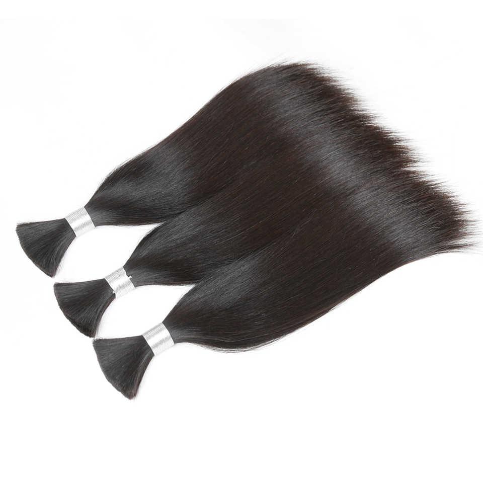 Rebecca brazylijski Remy proste włosy ludzkie włosy hurtowo dla plecionki 4 zestawy darmowa wysyłka 10 do 30 Cal włosy w naturalnym kolorze przedłużanie włosów