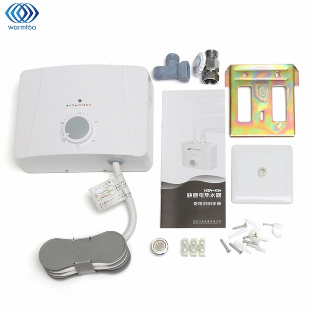 Mini Electric Water Heater Instant Hot Intelligent Constant Temperature  Bathroom Hot Water System Tap Faucet 5500W