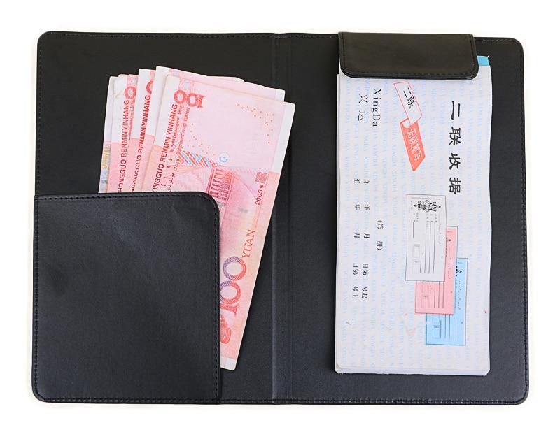 pu leather restaurant bill holder waiter wallet magnetic clip check book cashier folder free. Black Bedroom Furniture Sets. Home Design Ideas