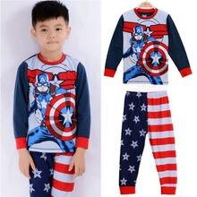 Captain America Kids Baby Boys Sleepwear Nightwear Pajamas Pyjamas Set Pijamas for Girls Boys Sleepwear Children's Nightwear