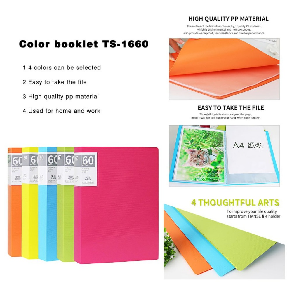 Buy Tianse Multilayer File Folder A4 Insert Loose Clip Files Clipboards 1701 Leaf Book Student Information Sheet Music Data 60 Pages From Reliable