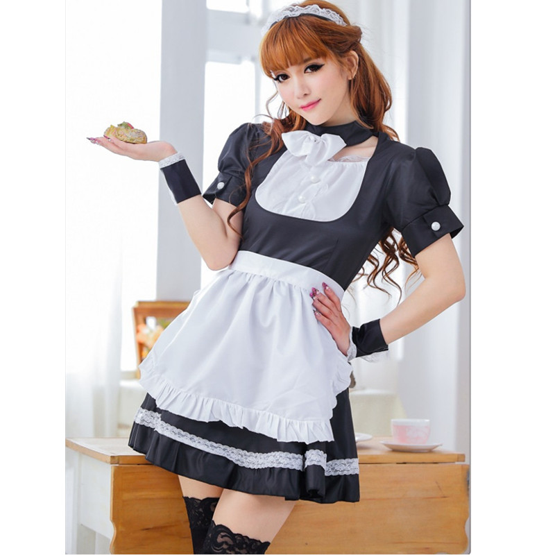 New beauty online sexy maid women lingerie hot Sexy French Maid Cosplay waitress Housemaid Costume nightwear role game play