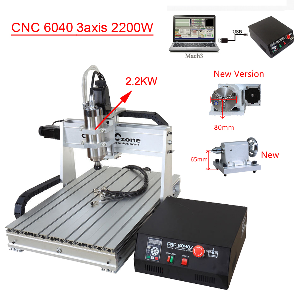 USB Mach3 CNC 6040 3axis 2200W Engraving Machine CNC Router Woodworking Milling Engraver Machine Manufacturer Supplier 3040zq usb 3axis cnc router machine with mach3 remote control engraving drilling and milling machine free tax to russia