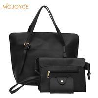 4pcs Set Fashion Women Shoulder Bag Composite Bags New Solid Color PU Leather Handbag Famous Brand