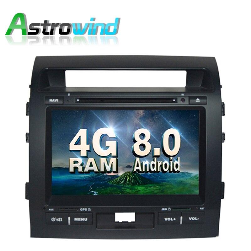 4 г Оперативная память, 32 г Встроенная память, 9 дюймов Android 8.0 GPS навигации Системы DVD стерео медиа Авто Радио для Toyota Land Cruiser 2008-2012 DVR dab +