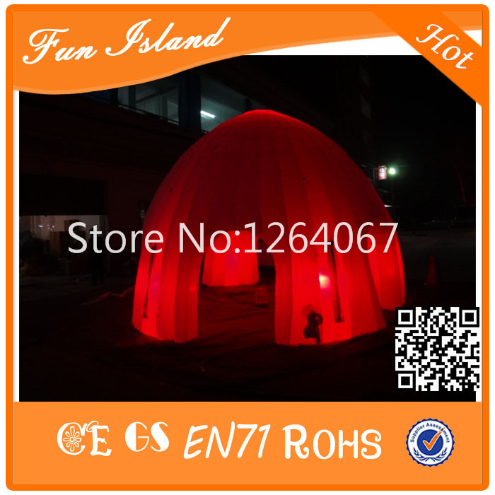 Inflatable LED Tent, Big Dome Tent With Arch Door,Inflatable Building Tent For Advertising,Inflatable Lawn Event Tent r074 20ft finsh line big archway for race events inflatable arch inflatable entrance arch gate arch door for outdoor activity