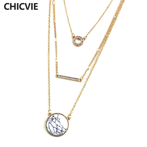 Женское винтажное ожерелье chicvie этнический многослойный белый