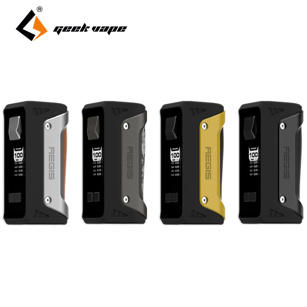 D'origine Geekvape AEGIS 100 W Boîte Mod avec 26650 Batterie 4300 mah L'ÉGIDE TC Mod Fit 18650/26650/20700 batterie Geekvape E-cig Mod
