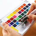 High Quality Professional Solid Water Soluble Portable Watercolor Paint Set Bright Color Painting Pigment Student Art Supplies