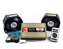 400W 12V Automotive S6 Police Siren Amplifier Electronic Car Siren Alarm Buzzer Dual Channel with 2pcs Ultra Slim Metal Speakers