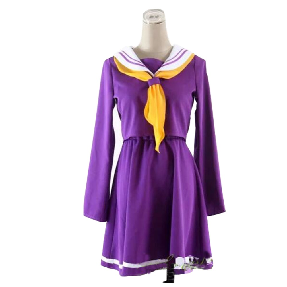 2016 Cosplay Costume No Game No Life Shiro Emboitement Heroine Purple Sailor Suit