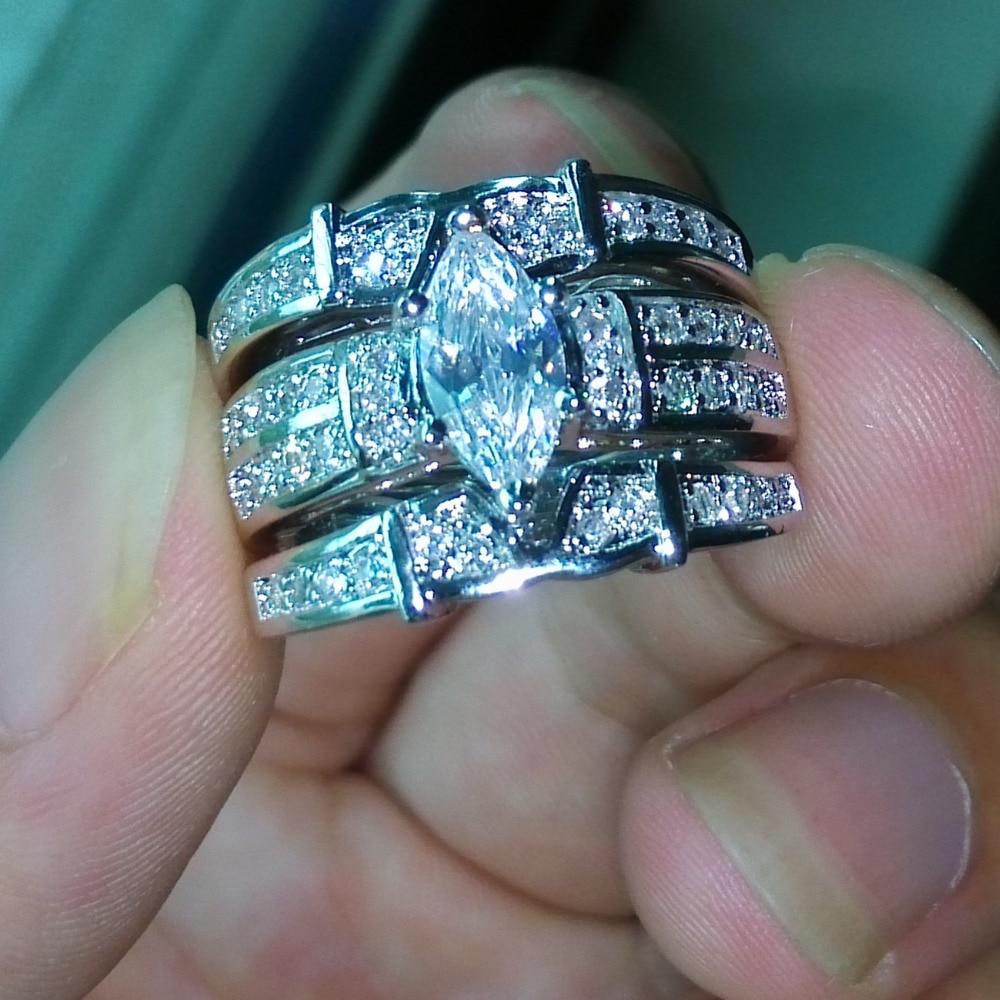 bridal wedding rings bands cz wedding sets r b Sterling Silver CZ Curved Half Eternity Ring