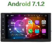 2GB RAM Android 7.1.2 Quad Core 16GB ROM 2 DIN Bluetooth Hands-Free Car Multimedia GPS Navi Radio Player for Toyota Corolla 2017