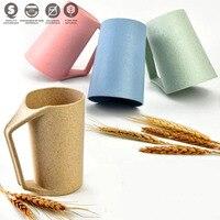 450ミリリットル環境に優しい麦わら繊維飲料マグコーヒーマグ水茶カップ浴室うがいマグ世帯卸売用