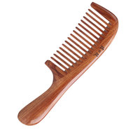 MR.GREEN Wood comb Wide tooth Straight hair