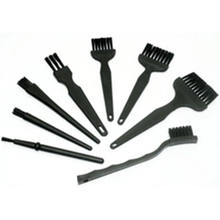 Escova anti estática esd, 8 peças de fibra sintética segura, detalhes, ferramenta de limpeza, para celular, tablet, reparo pcb bga trabalho