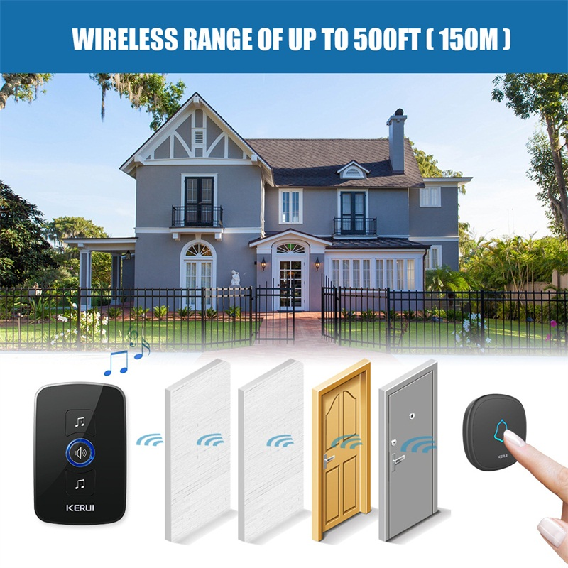 KERUI M525 Home Security Bienvenue Sonnette Sans Fil Smart Chimes - Sécurité et protection - Photo 5