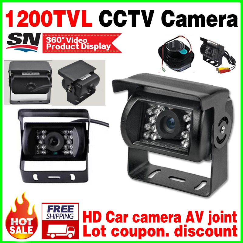 Car Special Bus Reversing Camera AV Joint 1/4cmos 1200TVL Waterproof IP66 Night Vision 30m Rear view Security Surveillance video bas ip av 01t v3