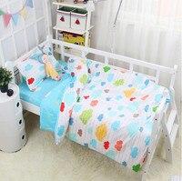 3Pcs Baby Bedding Set Cotton Cartoon Breathable Bed Linen Baby Crib Duvet cover Cot Flat Sheet Pillowcase Newborns For Boy Girl