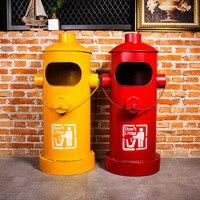 Американский креативный пожарный гидрант мусорный бак Железный большой уличная мусорная корзина Железный домашний декорд в деревенском с