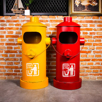 American creative fire hydrant trash can iron big outdoor garbage can iron rustic home decor home decoration accessories