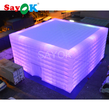 купить inflatable cube tent with multicolor for commercial advertising event festive Party decoration онлайн
