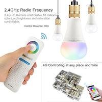 SXZM Mi Licht Led-lampe E27 12 Watt Led-lampe Licht RGB + Warmweiß + Weiß (RGB + CCT) Led-lampe WIFI 2,4G RF Remote Innen Rampenlicht