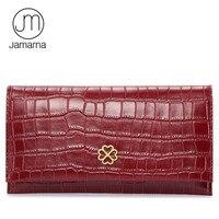 Jamarna Brand Crocodile Leather Women Wallets Long Clutch Female Purse Credit Card Coin Purse Phone Holder