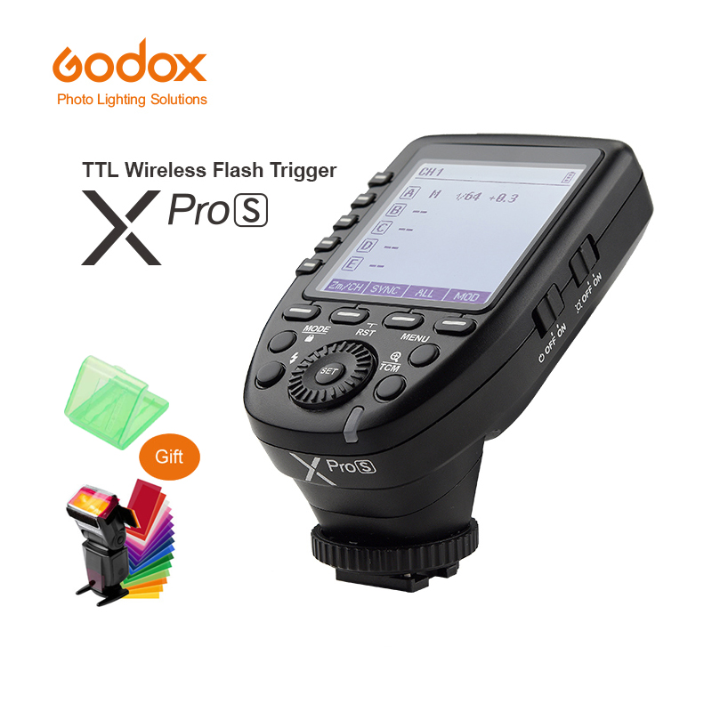 Godox Xpro-S TTL 2.4G Wireless X system Transmitter Trigger For Sony A77 II A99 A9 A7R III A350 Godox TT685S V860II-S in stock godox xpro xpro s for sony camera ttl tt685s v860ii s wireless transmitter trigger 1 8000s 11 customizable functions