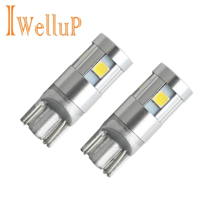 Autós stílusú W5W LED 12V 3030 5SMD automatikus lámpák 168 194 izzólámpa parkoló ködlámpa automatikus Univera autók világítással
