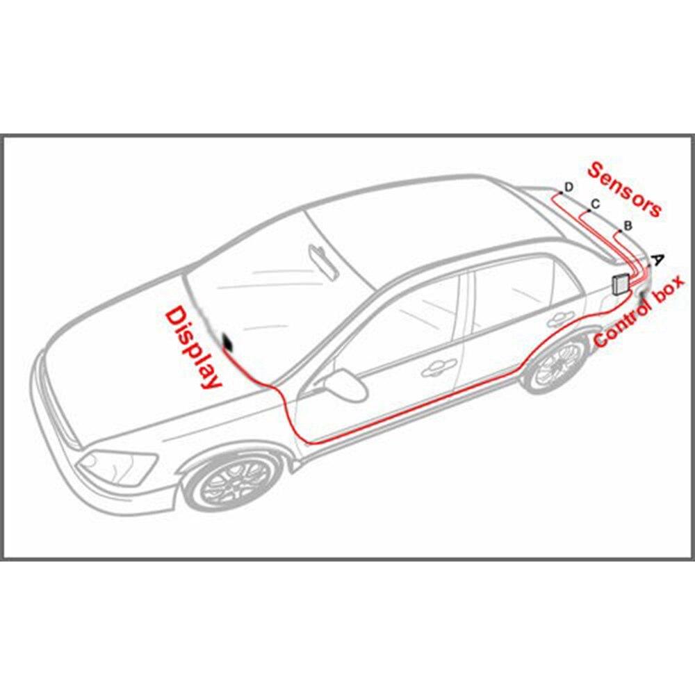Eunavi Auto LED Parkplatz Sensor Kit 4 Sensoren 22mm Hintergrundbeleuchtung Display Reverse Backup Radar Monitor System 12 v