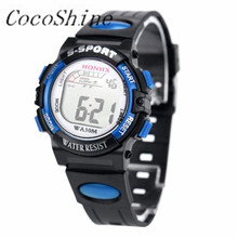 CocoShine A-787 Fashion Mens Stainless Steel LED Digital Date Alarm Waterproof Sports Army Quartz Watch wholesale Free shipping