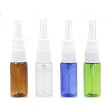 Пластиковая бутылка 15 мл прямая бутылка-спрей прозрачная емкость для лекарств бутылочка для Назального спрея пластиковая синяя жидкая упаковка 50 шт