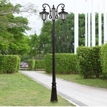 Наружное украшение антикварная двойная рука лампа пост на улице, сад