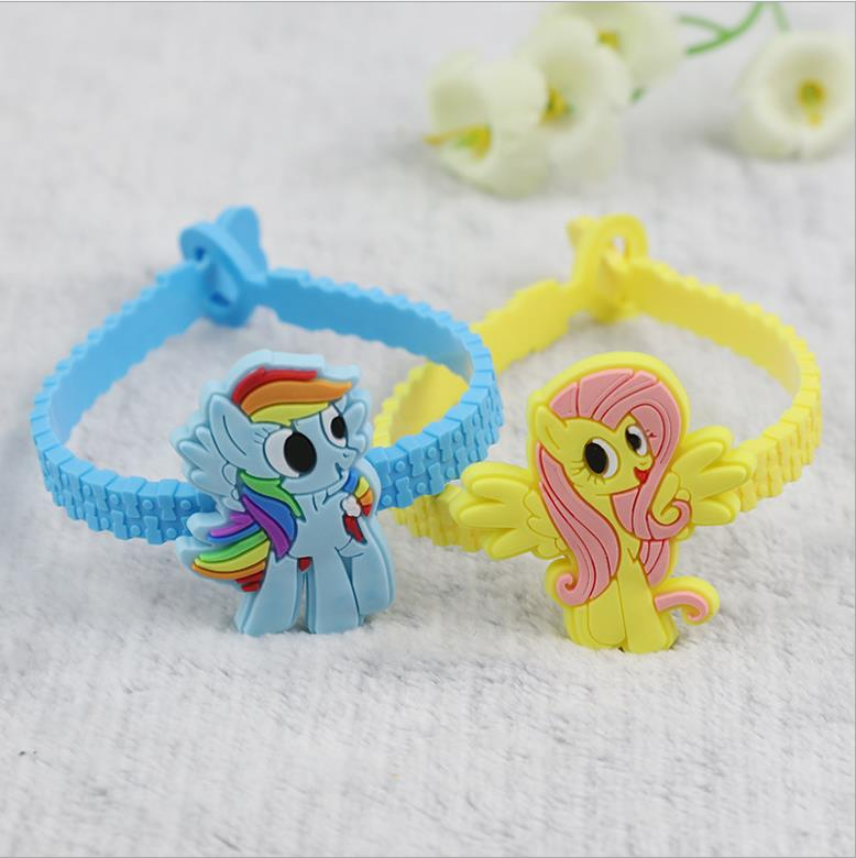 Cute Cartoon Creation Pony PVC Children's Bracelet Toys