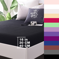 Custom 600TC Cotton Luxury Solid Fitted Sheet Bedsheet Bed Sheet With Elastic Band 1PCS Bedding Sheets 160x200 90x200 Black