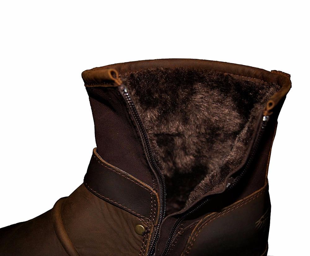 OTTO strefa męska jesień/zima buty buty prawdziwa skóra bydlęca wysokiej góry kostki buty z bawełny wyściełane skórzane buty rozmiar ue 39 46 na  Grupa 2